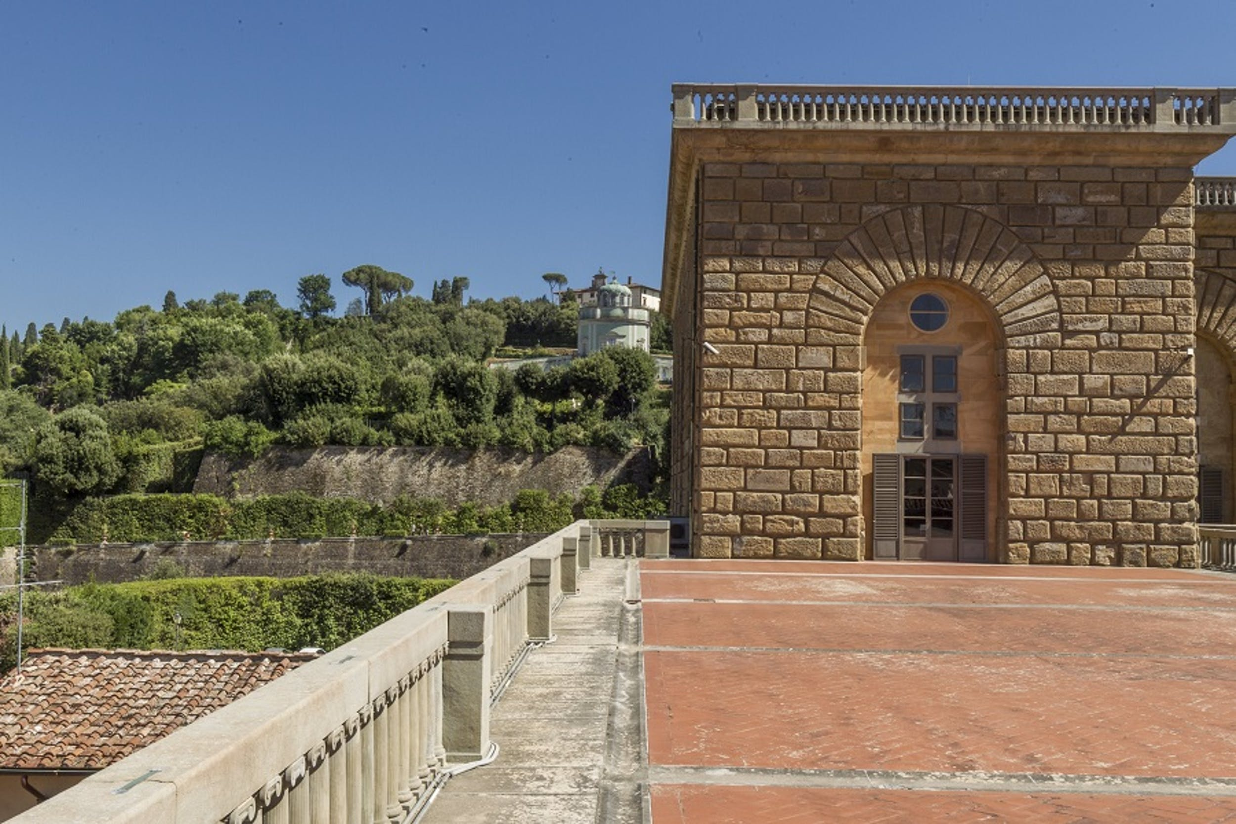Veduta di Palazzo Pitti e del Giardino di Boboli