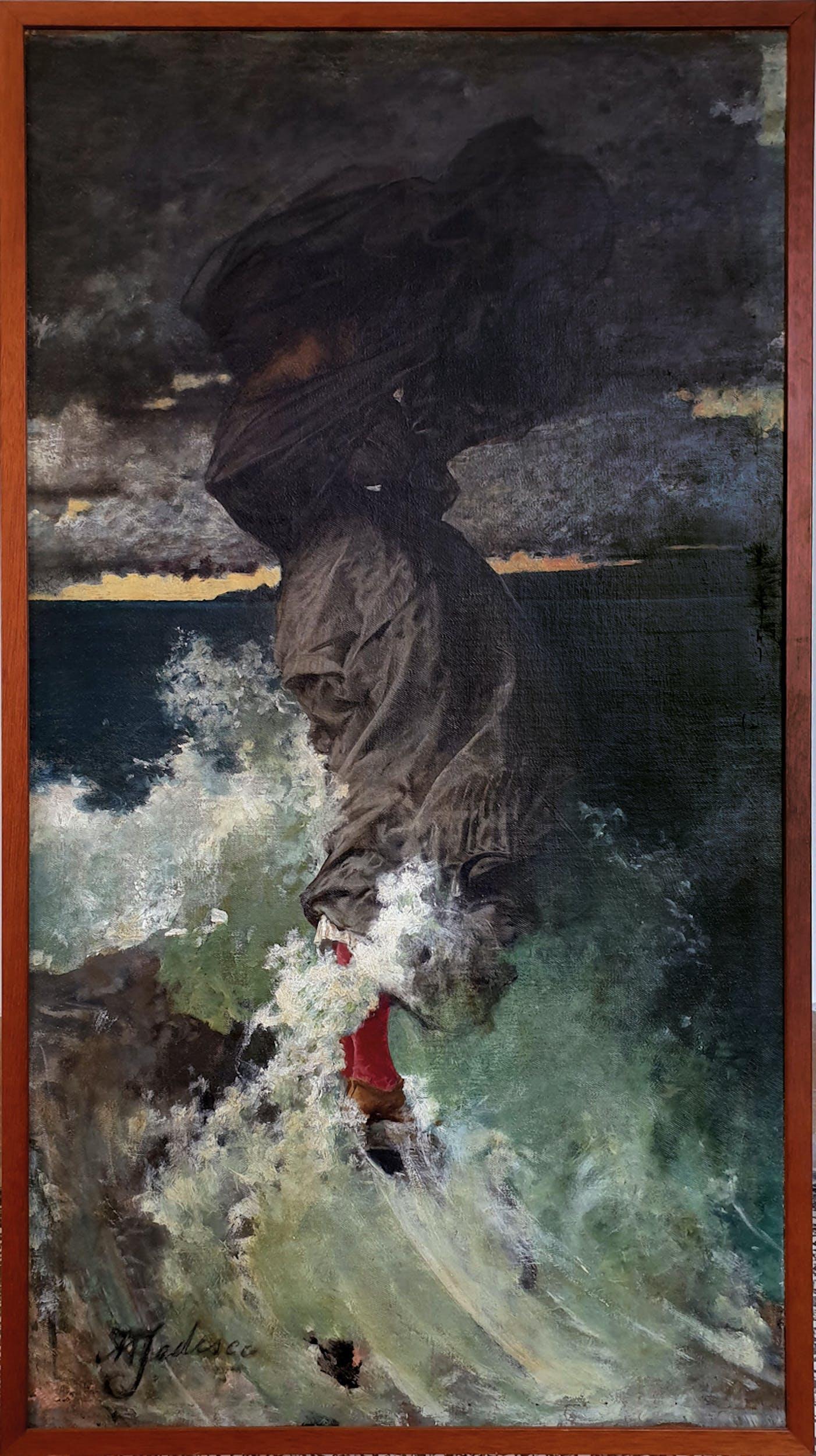 Michele Tedesco (Moliterno 1834 – Napoli 1917) La tempesta 1888 circa olio su tela Città Metropolitana, Napoli I Michele Tedesco (Moliterno 1834 – Naples 1917) The Storm c. 1888 oil on canvas Città Metropolitana, Naples