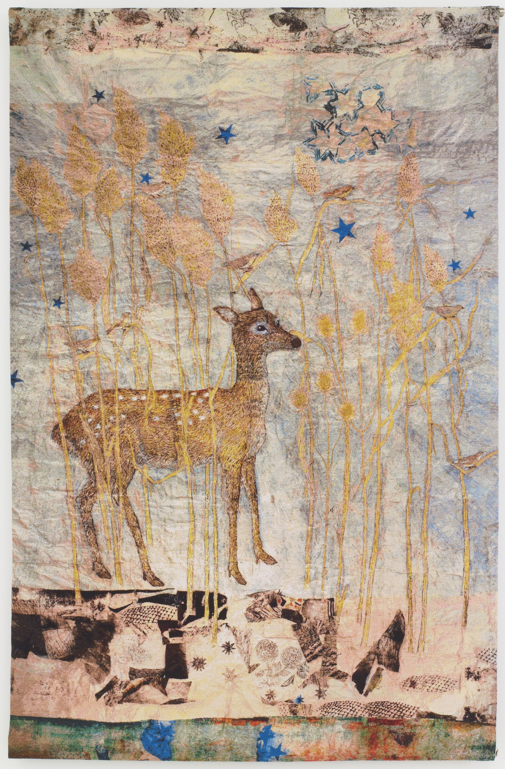 Fortune 2014 arazzo in cotone jacquard con interventi pittorici Oakland, California, Magnolia Editions Per gentile concessione dell'artista e della Pace Gallery I Fortune 2014 cotton Jacquard tapestry and hand-painting Oakland, California, Magnolia Editions Courtesy of the artist and Pace Gallery