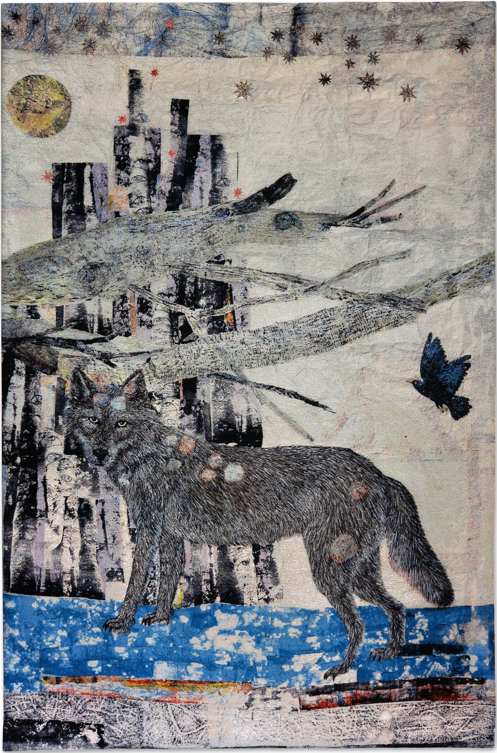 Cathedral (Wolf) 2012, arazzo in cotone jacquard Roma, collezione Giulio di Gropello Per gentile concessione di Galleria Continua, San Gimignano - Beijing – Les Moulins – Habana I Cathedral (Wolf) 2012, cotton Jacquard tapestry Roma, Giulio di Gropello collection Courtesy of Galleria Continua, San Gimignano - Beijing – Les Moulins – Habana