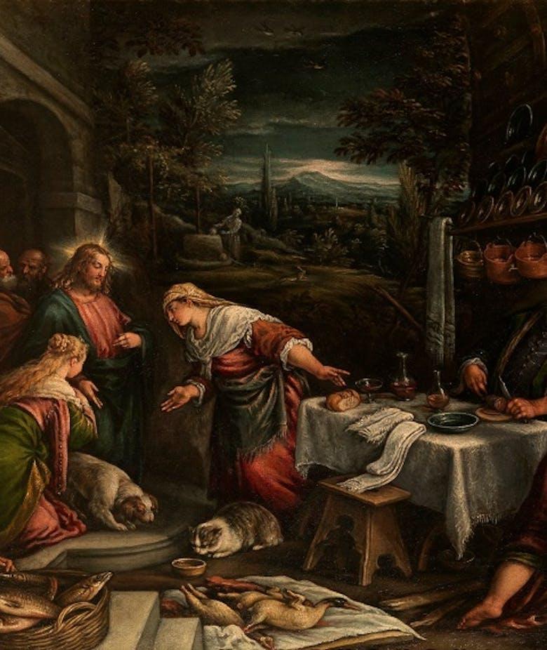 Cristo in casa di Marta, Maria e Lazzaro