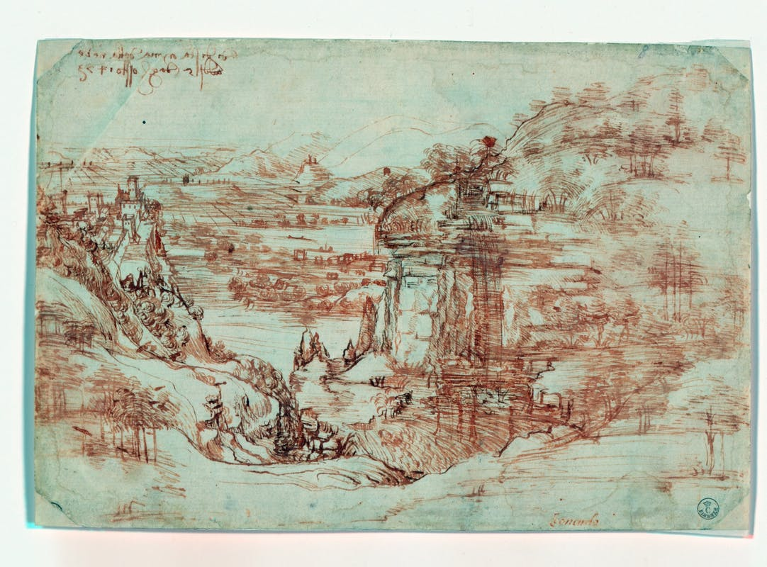 Leonardo Da Vinci, Paesaggio, inv. 8P, recto, indagini diagnostiche.