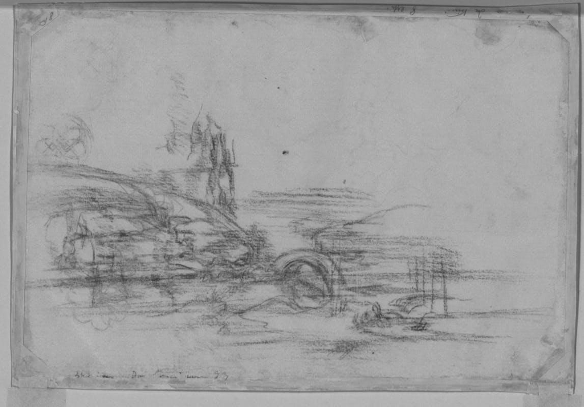 Leonardo Da Vinci, Paesaggio, inv. 8P, verso, indagini diagnostiche.