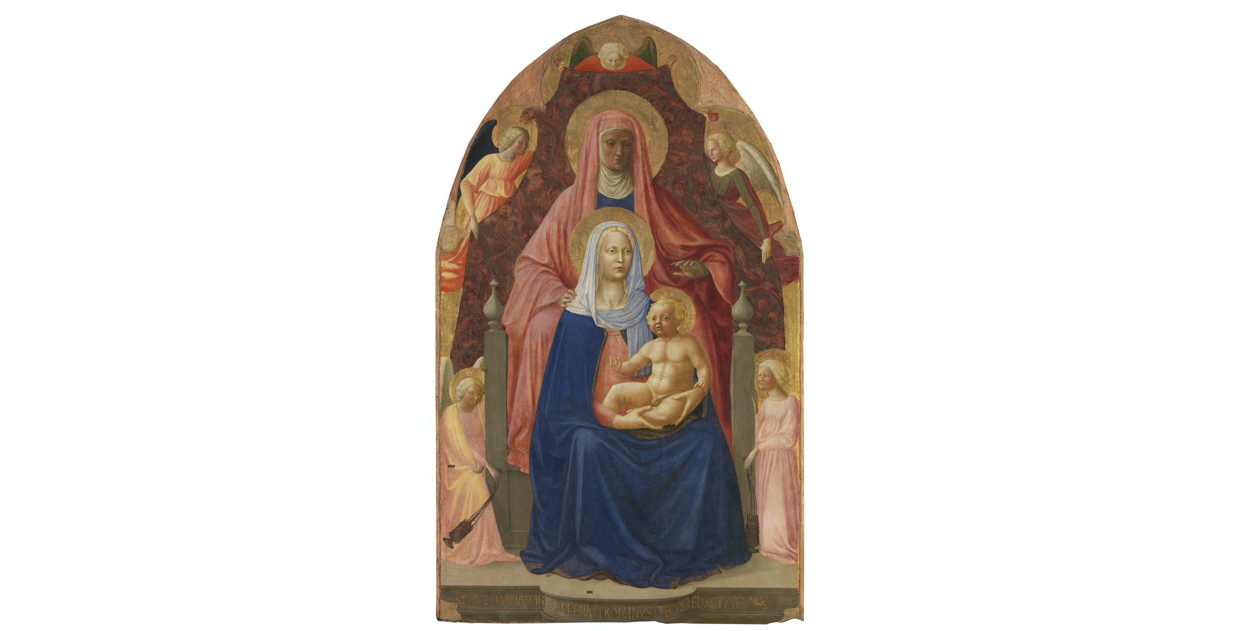 Masaccio e Masolino, Sant' Anna Metterza I Masaccio e Masolino, Saint Anne, Madonna and Child, five angels (called 'Sant'Anna Metterza')