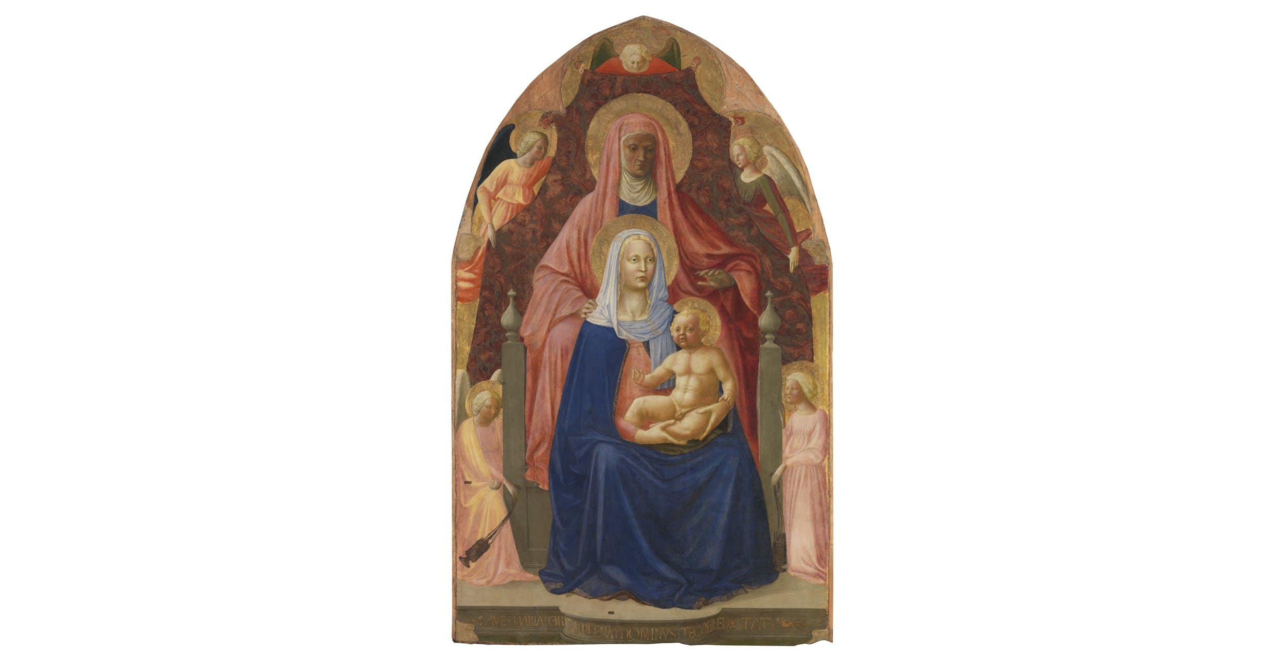 Masaccio e Masolino, Sant' Anna Metterza I Masaccio e Masolino, Saint Anne, Madonna and Child, five angels (called 'Sant'Anna Metterza')
