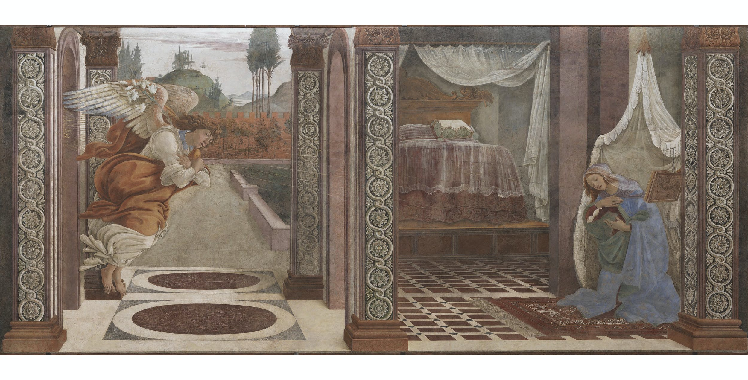 Sandro Botticelli, Annunciazione (affresco staccato) I Sandro Botticelli, Annunciation (detached fresco)