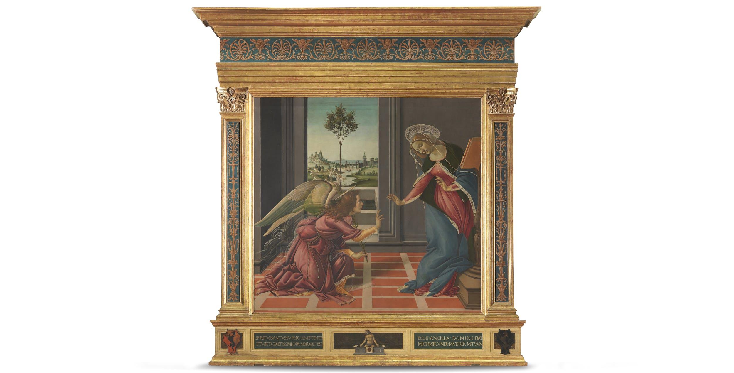 Sandro Botticelli, L'Annunciazione di Cestello e Cristo in Pietà I Sandro Botticelli, The Cestello Annunciation and Pietà