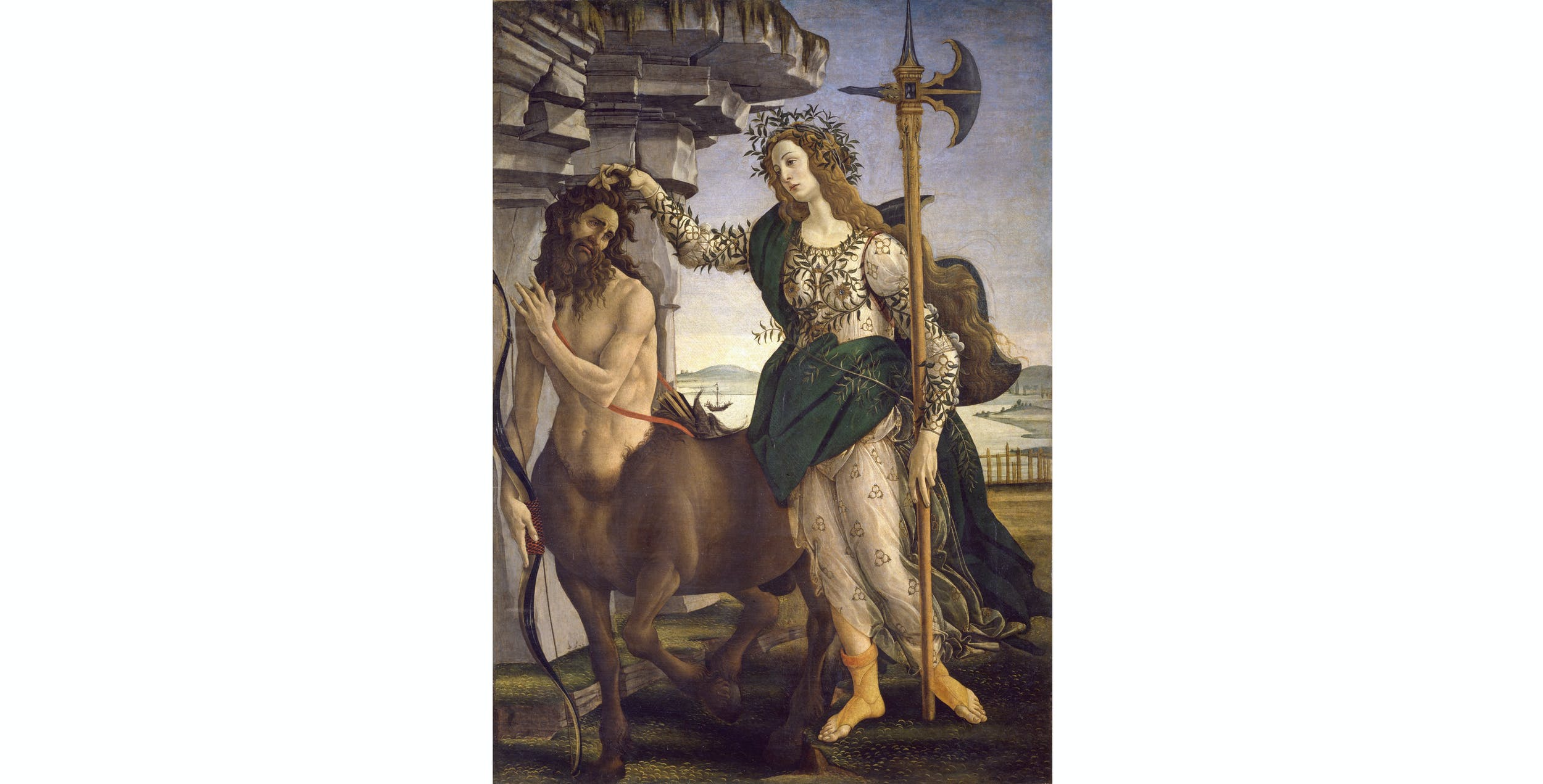Sandro Botticelli, Pallade e il centauro I Sandro Botticelli, Pallas and the centaur
