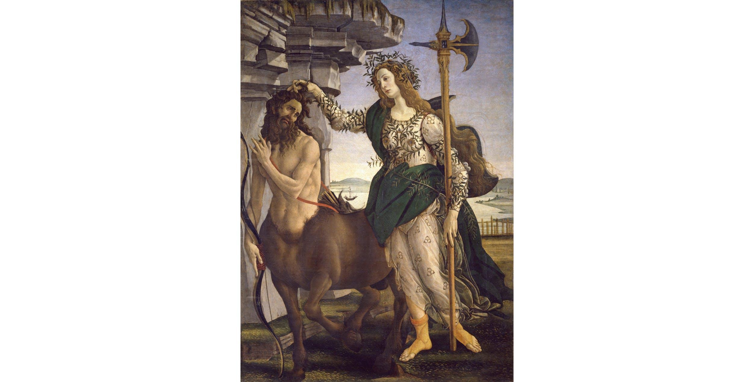 Sandro Botticelli, Pallade e il centauro I Sandro Botticelli, Pallas and the centaur