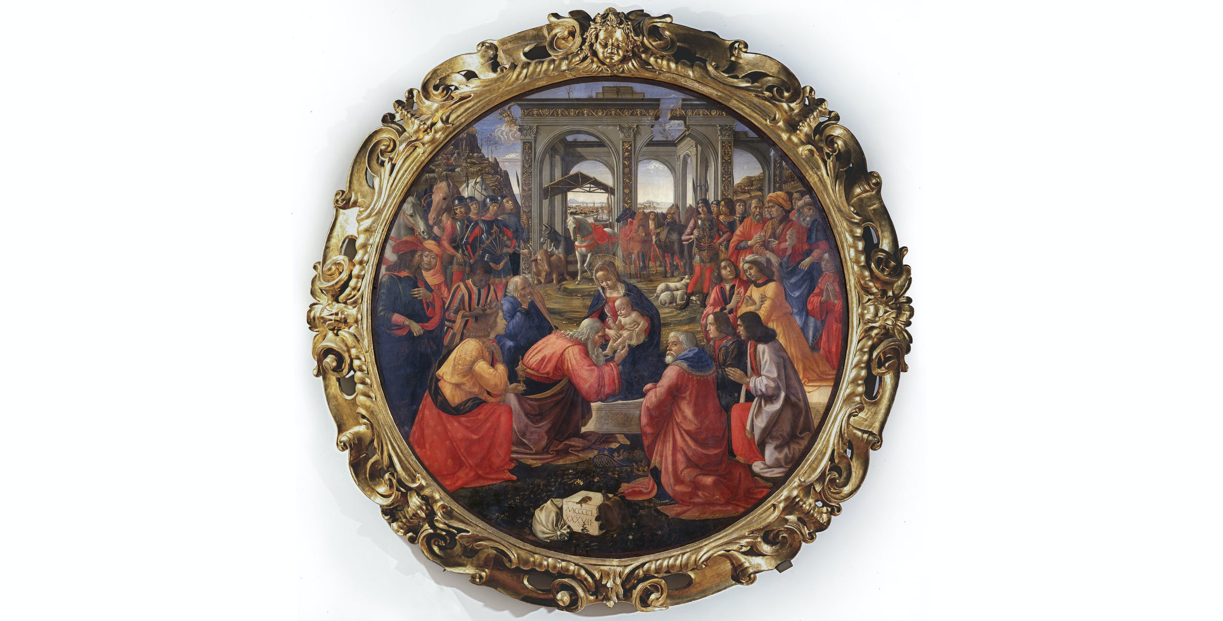 Domenico Ghirlandaio, Adorazione dei Magi I Domenico Ghirlandaio, Adoration of the Magi