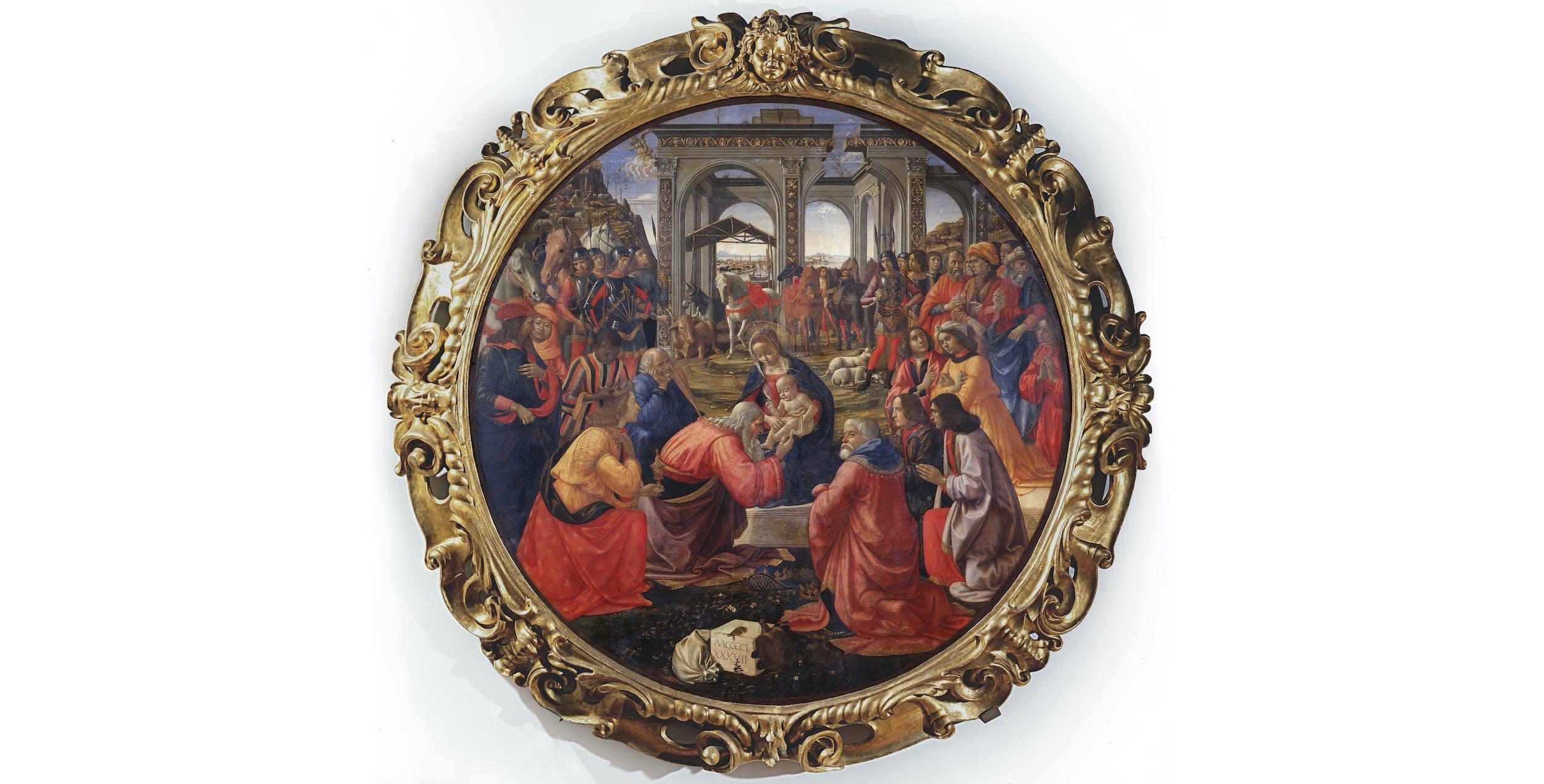 Domenico Ghirlandaio, Adorazione dei Magi I Domenico Ghirlandaio, Adoration of the Magi