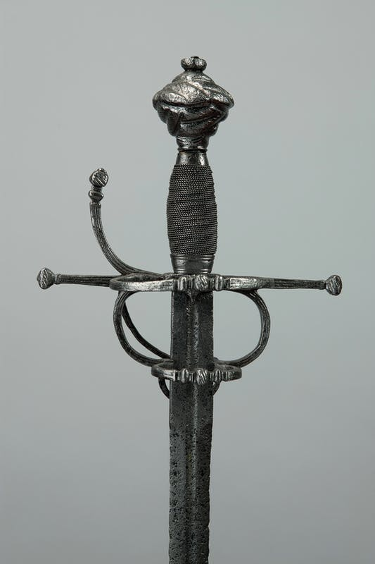 Italia settentrionale (?) Spada da lato a due anelli 1535-1600 acciaio, legno Musei del Bargello, Firenze