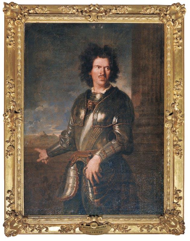 Niccolò Cassana (1659-1713) Ritratto di un soldato della Guardia tedesca a cavallo 1691 olio su tela Galleria Palatina, Gallerie degli Uffizi, Firenze