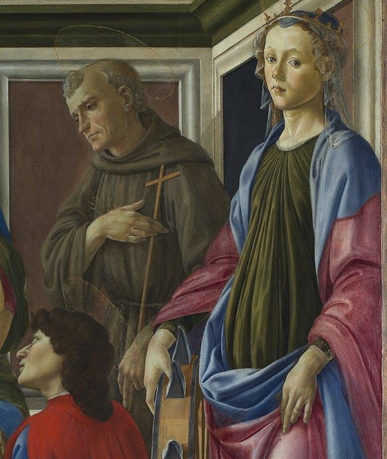 Il restauro di un'opera giovanile di Sandro Botticelli rivela le modalità di lavoro del maestro da giovane