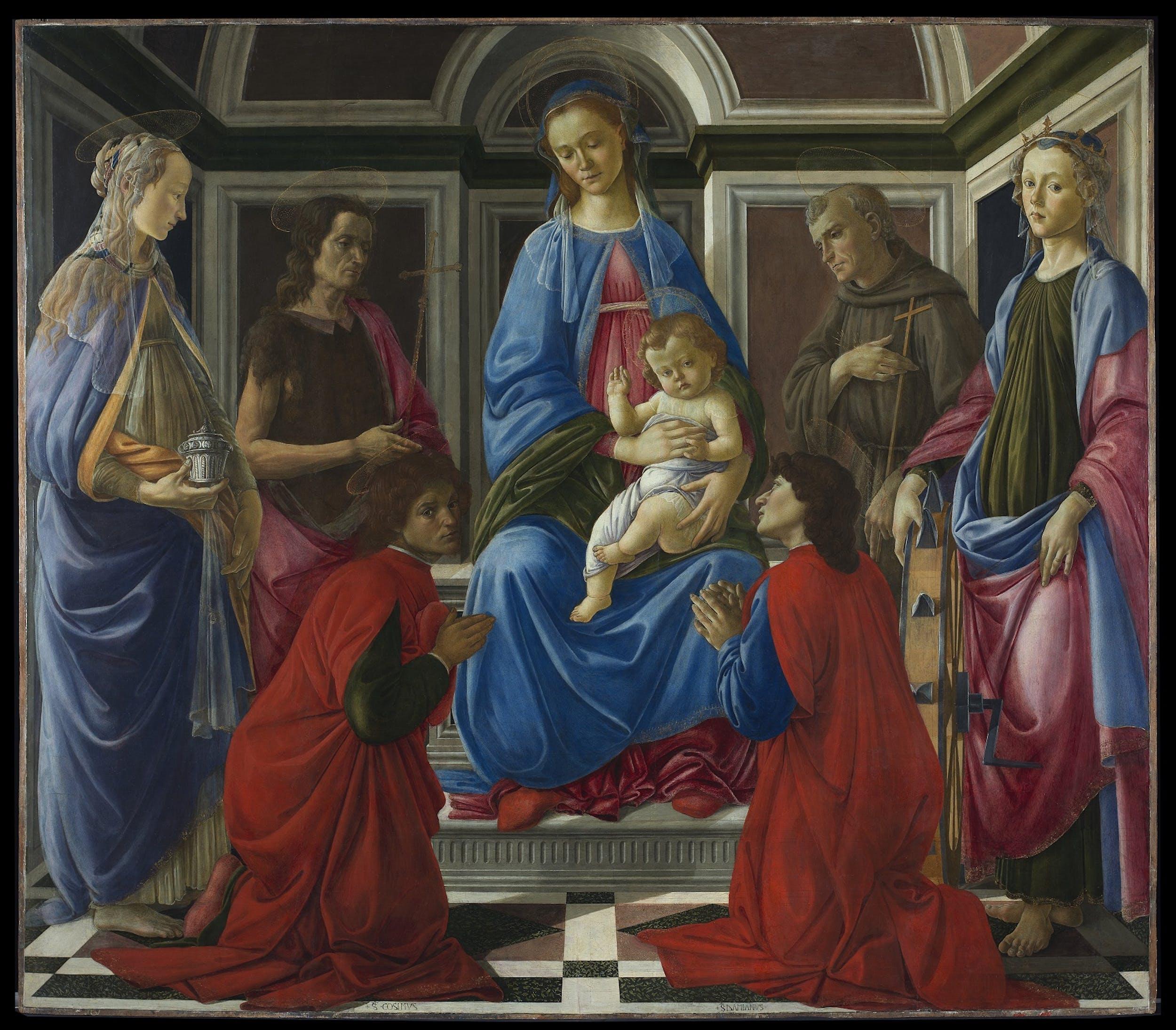 Sandro Botticelli, Pala di Sant'Ambrogio - dopo il restauro