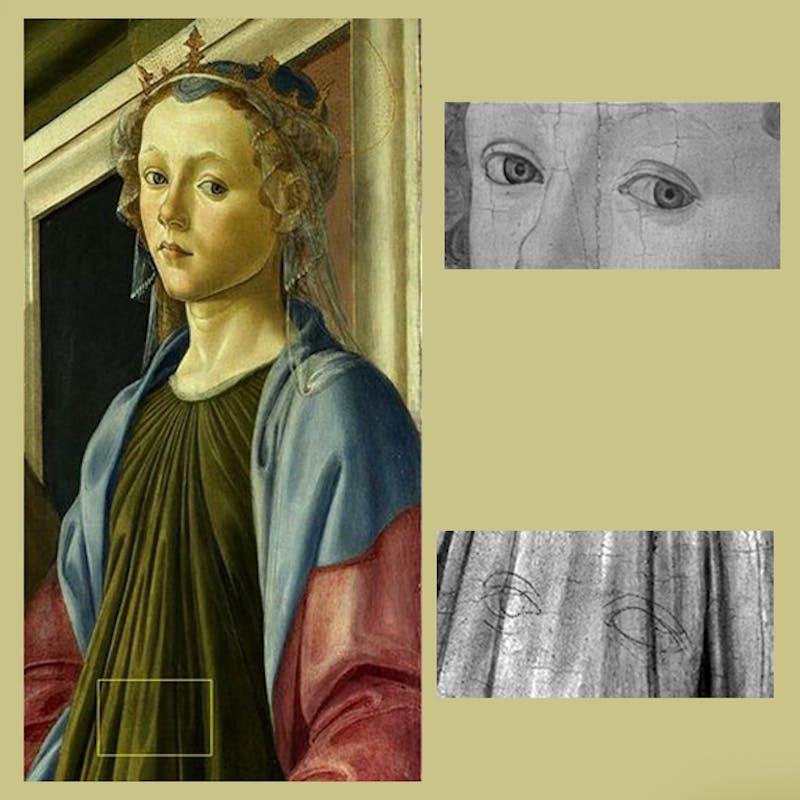 Sandro Botticelli, Pala di Sant'Ambrogio - dettaglio Santa Caterina