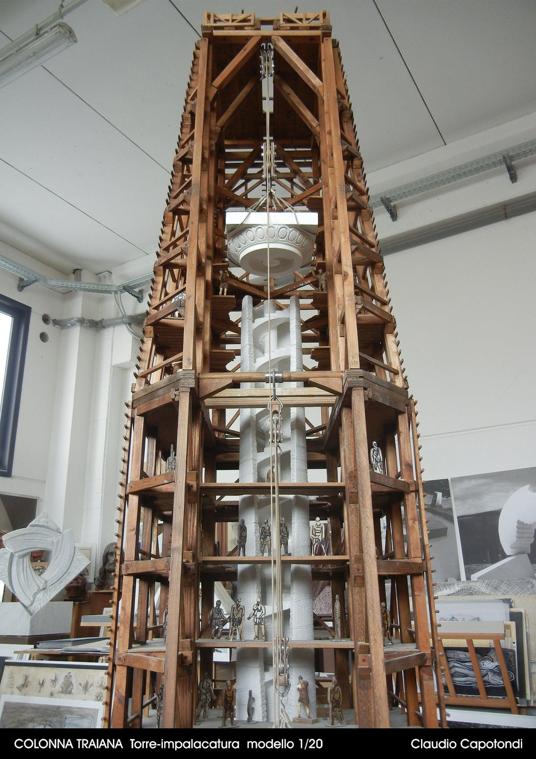 Fig. 15 Claudio Capotondi Torre impalcatura Modello in scala 1:20 | Fig. 15 Claudio Capotondi Scaffolding Tower Model in 1:20 scale