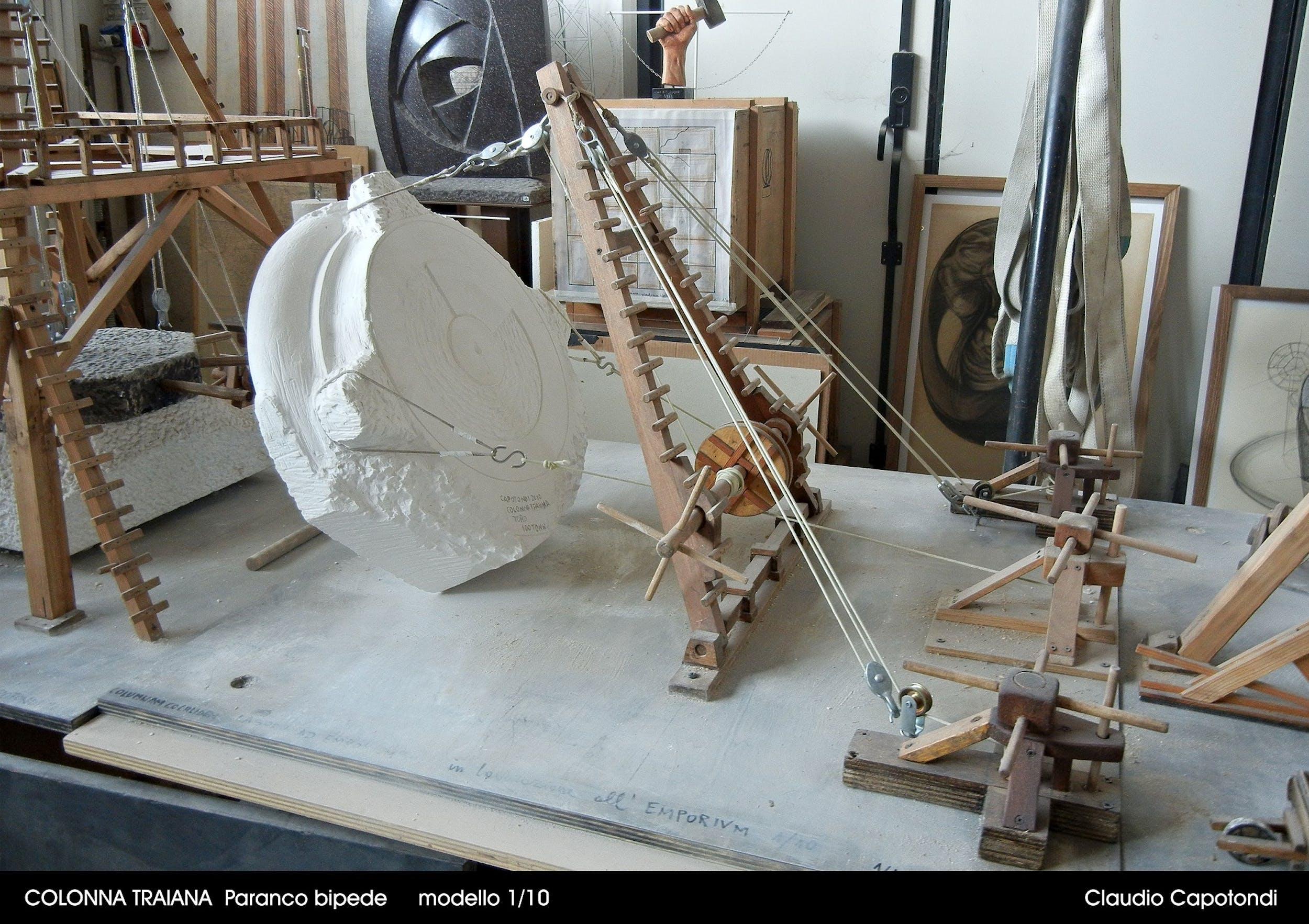 Fig. 13 Claudio Capotondi Gru a due sostegni Modello in scala 1:10 | Fig. 13 Claudio Capotondi Two-Masted Crane Model in 1:10 scale