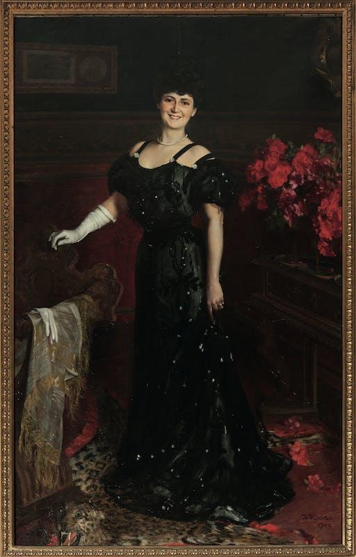 Gino Rossi (Venezia 1884 – Treviso 1947) Ritratto di Lucia Levi nei Levi 1906 olio su tela Comunità Ebraica, Firenze
