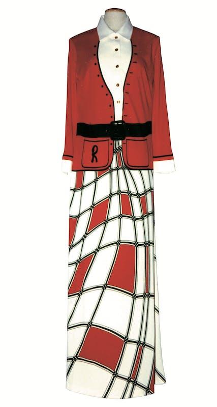 Roberta di Camerino (Giuliana Coen, Venezia 1920-2010) Abito femminile 1976 jersey di poliestere stampato Museo della Moda e del Costume, Gallerie degli Uffizi, Firenze