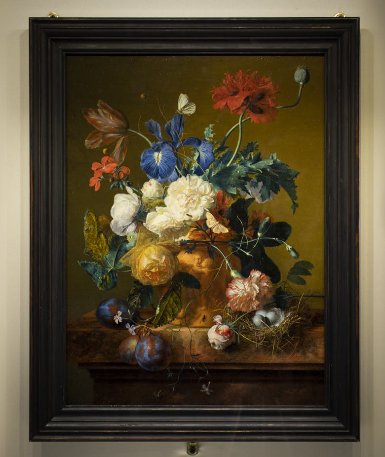 """The Flower Vase"" by Jan van Huysum has returned to Pitti Palace!"