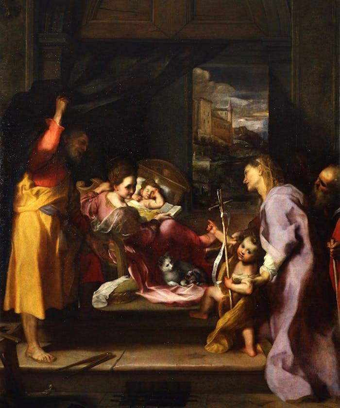 """La """"Madonna della gatta"""" di Barocci esposta a Palazzo Pitti"""