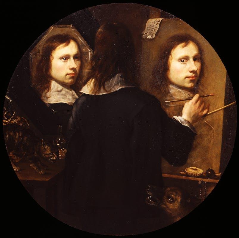 Johannes Gumpp, Autoritratto, 1646, olio su tela, Gallerie degli Uffizi, inv. 1890, n. 1901