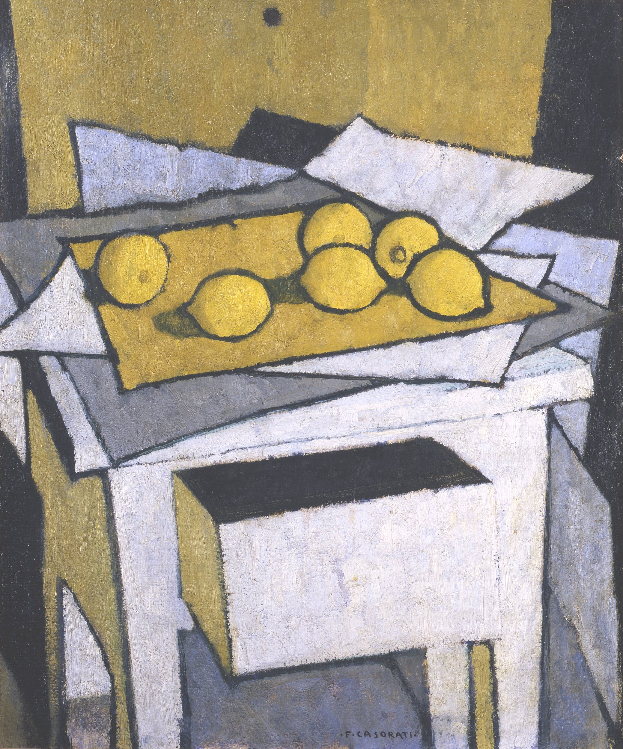 Felice Casorati (Novara 1883 - Torino 1963 ), I limoni, 1950 ca.