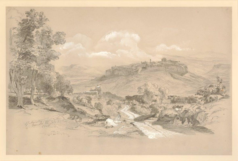 Acquarello con vista di Orvieto di Samuel James Ainsley