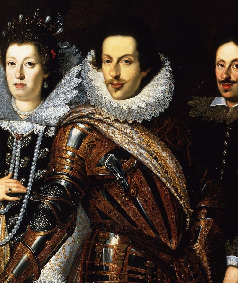 Cosimo II de' Medici con la moglie Maria Maddalena d'Austria e il figlio Ferdinando II