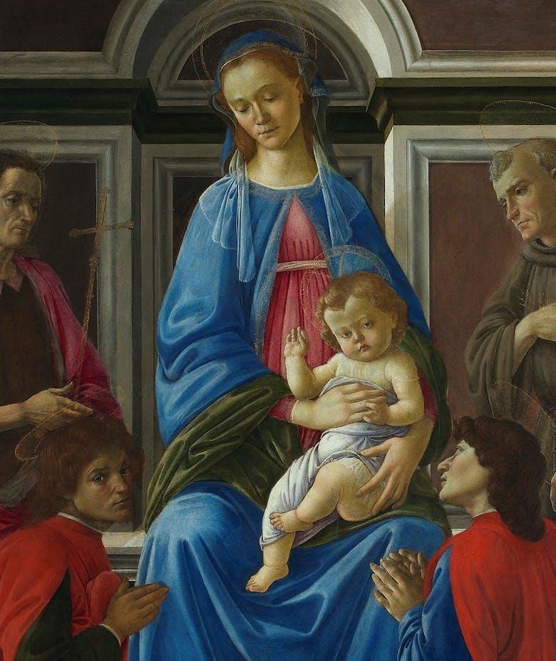 Madonna col Bambino in trono e i Santi Giovanni Battista, Maria Maddalena, Francesco, Caterina d'Alessandria, Cosma e Damiano