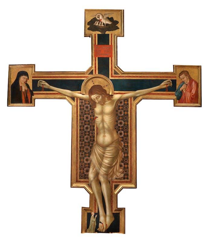 Fig. 4: Maestro del Crocifisso Corsi - Crocifisso dipinto e dolenti, 1315 circa