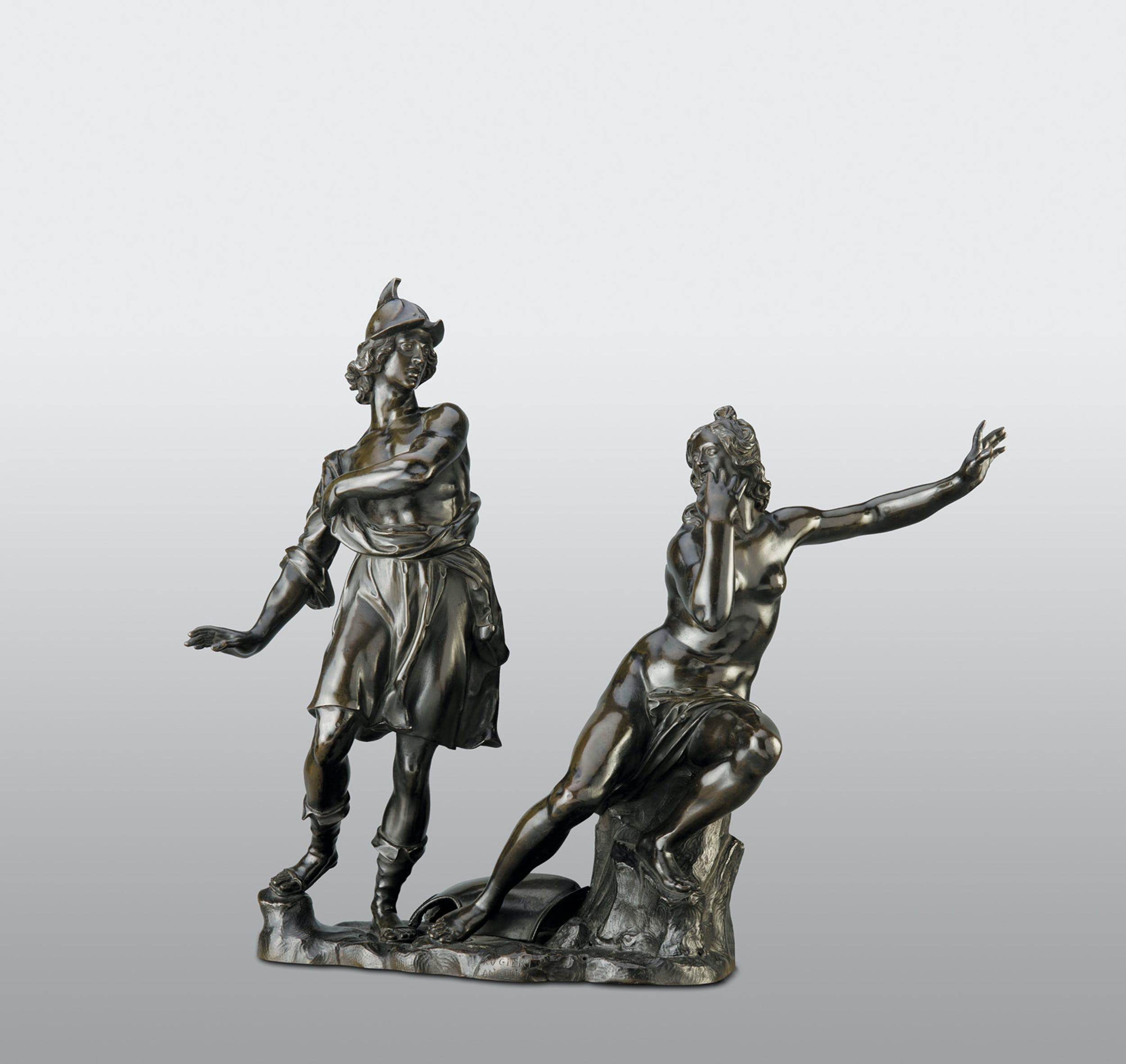 Ferdinando Tacca Angelica con l'anello magico si cela a Ruggiero 1650-1660 circa bronzo patinato Musée du Louvre, Parigi Fig. 3 Ferdinando Tacca Angelica with the magic ring hides from Ruggiero 1650-1660 circa patinated bronze Musée du Louvre, Parigi