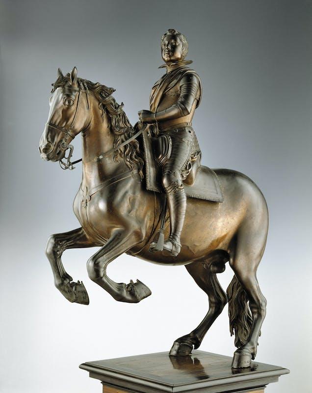 Pietro Tacca Luigi XIII di Francia a cavallo 1615-1618 circa bronzo rossiccio non patinato Museo Nazionale del Bargello, Firenze