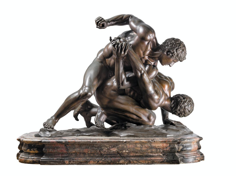 Giovan Battista Foggini Lottatori 1714-1715 bronzo patinato Ministero dell'Economia e delle Finanze (in deposito dalle Gallerie degli Uffizi), Roma