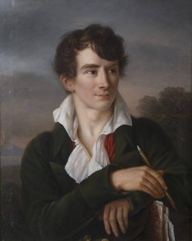 Jeanne-Elisabeth Chaudet (Parigi, 1761 – 1832)  Ritratto dello scultore Antoine Denis Chaudet  1802 circa  Olio su tela  61 x 48,5 cm
