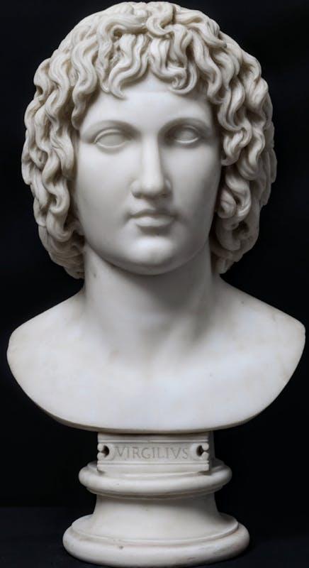 Carlo Albacini (Roma 1734 - 1813)  Busto di Virgilio  1790 circa  marmo  58 cm