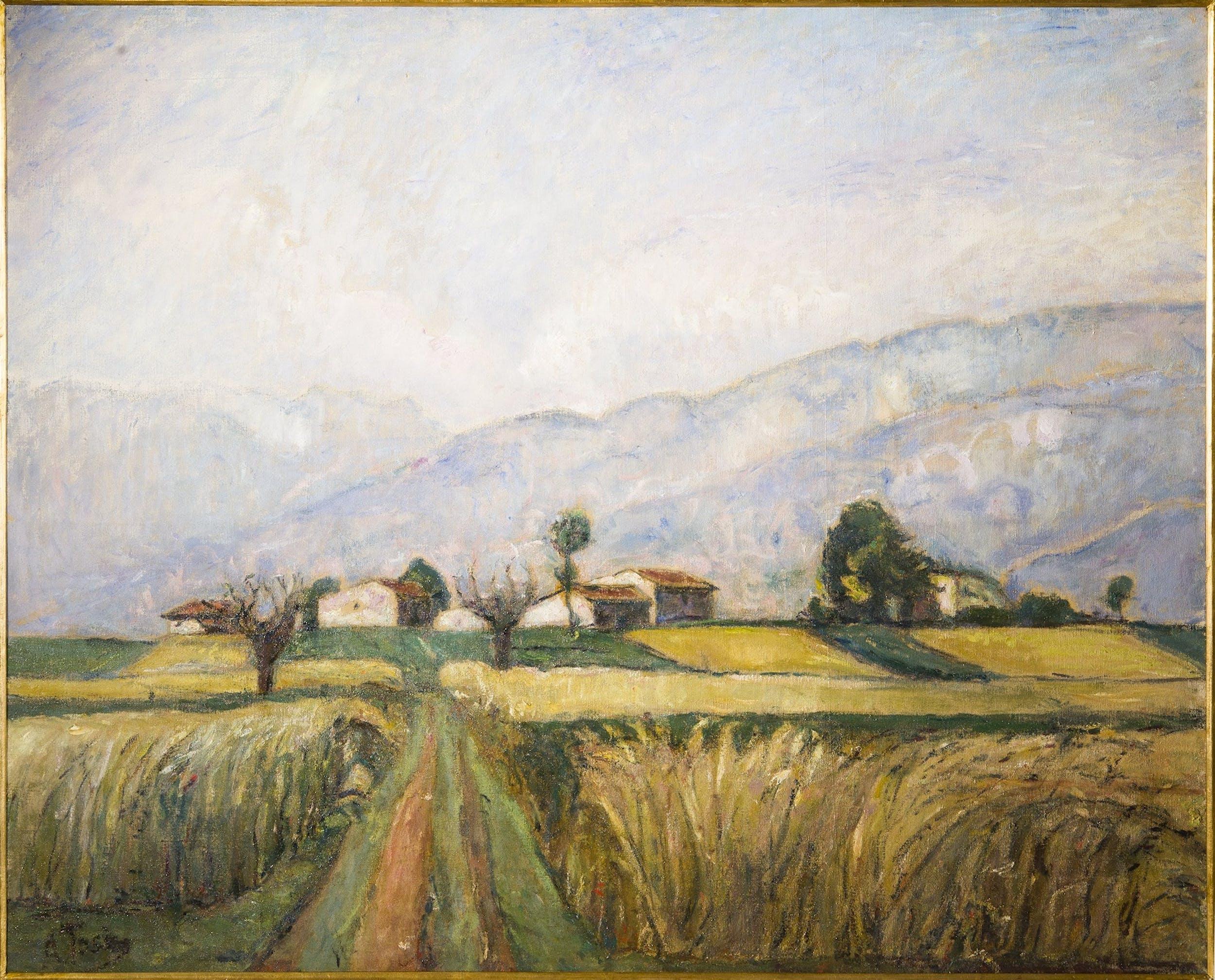 Arturo Tosi (Busto Arsizio, 1871 - Milano, 1956), La messe, 1926, Galleria d'arte moderna di Palazzo Pitti