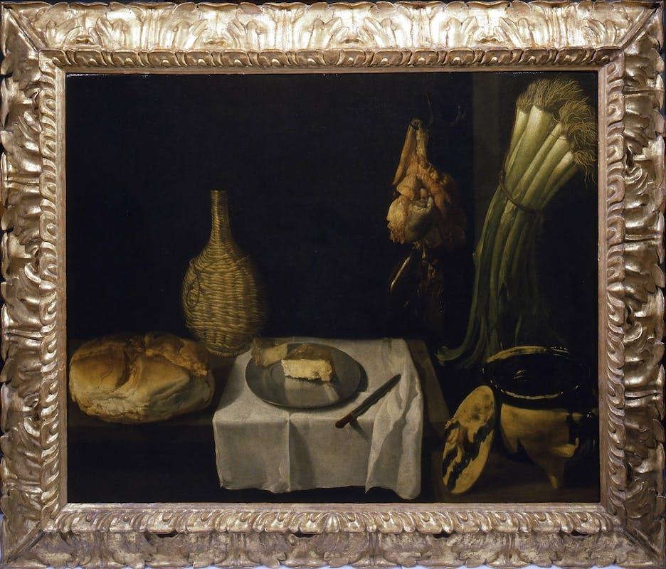 Diego Velázquez (Siviglia 1599 - Madrid 1660) e bottega, Natura morta, 1615-1620 Uffizi
