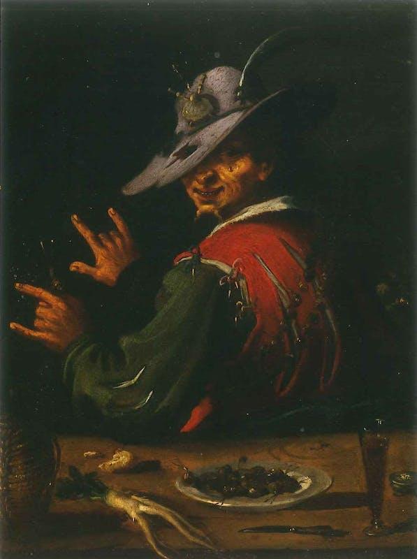 Filippo Napoletano (Roma 1589-1629), L'uomo delle lumache, Galleria Palatina