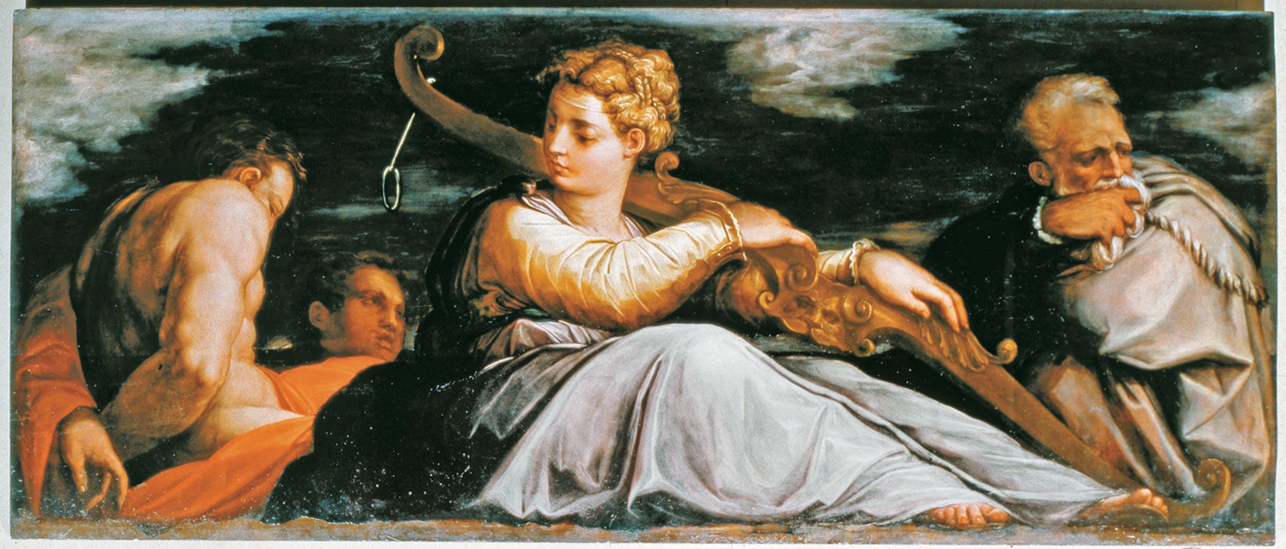 Giorgio Vasari (Arezzo, 1511-Firenze, 1574) La Pazienza 1542 olio su tavola Gallerie dell'Accademia, Venezia | Giorgio Vasari (Arezzo, 1511- Florence, 1574) Patience 1542 oil on wood  Gallerie dell'Accademia, Venice