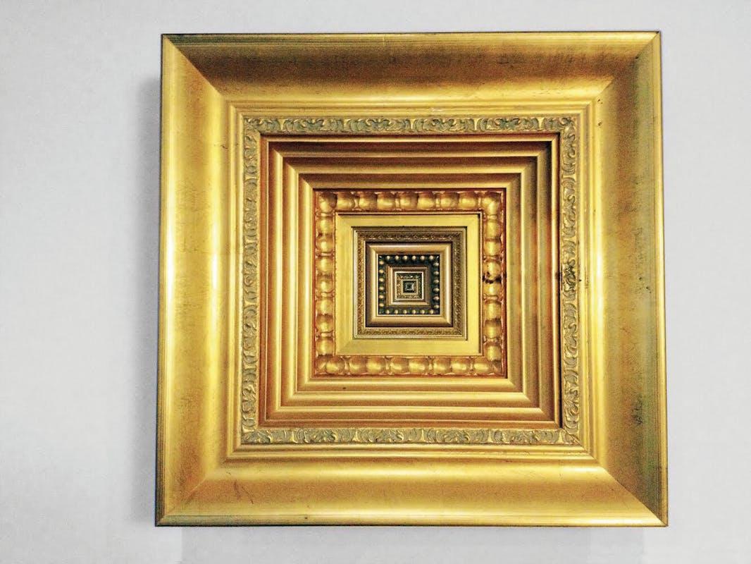 Wu Yuren (1971) The Truth is Concrete n° 2 e n° 3 2015 cornice in legno, foglia d'oro Eli Klein Gallery, New York