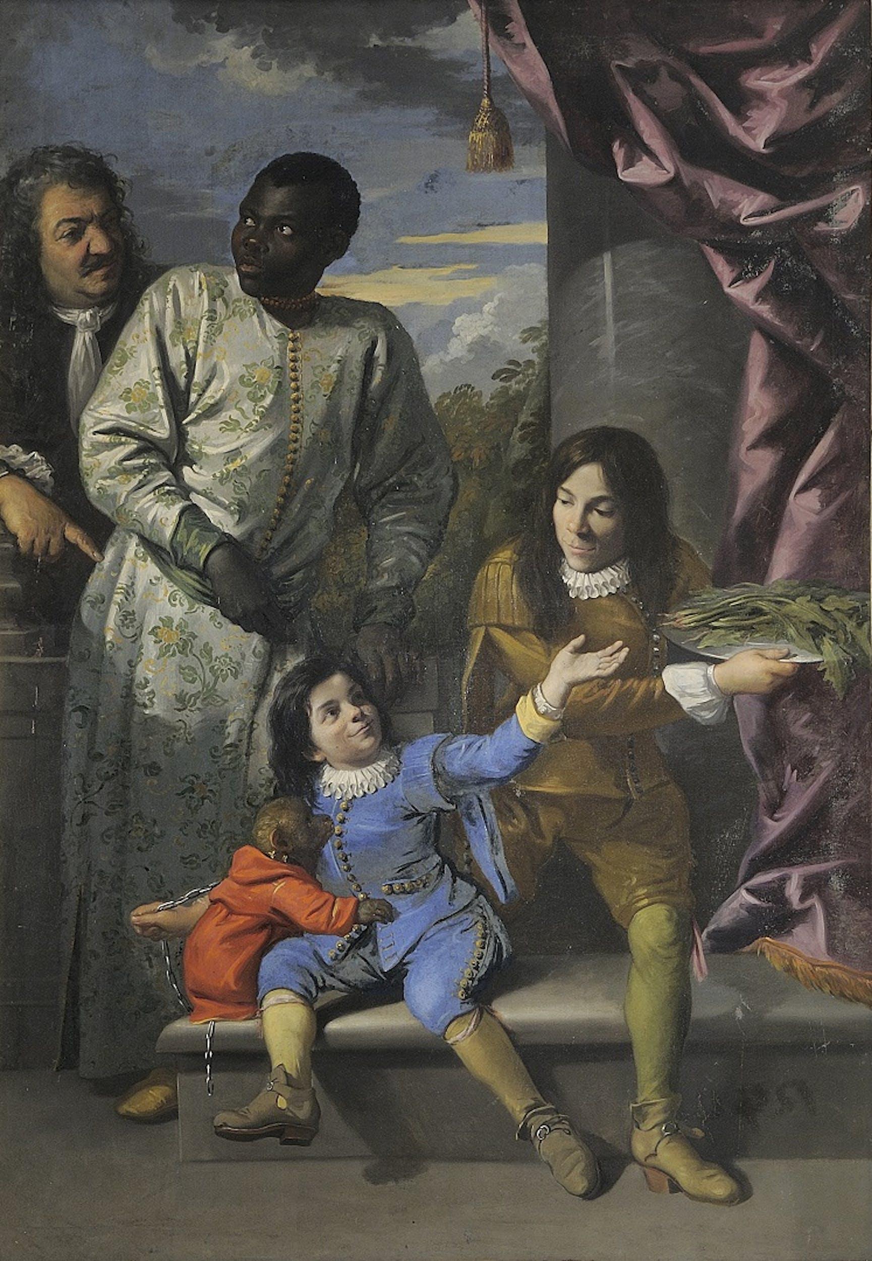 Anton Domenico Gabbiani, 1684, Galleria Palatina, Depositi Ritratto di quattro servitori alla corte medicea,