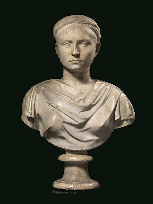 TESTA RITRATTO ROMA, ETÀ ADRIANEA (ANTE 130 d.C.) 45 × 69 cm