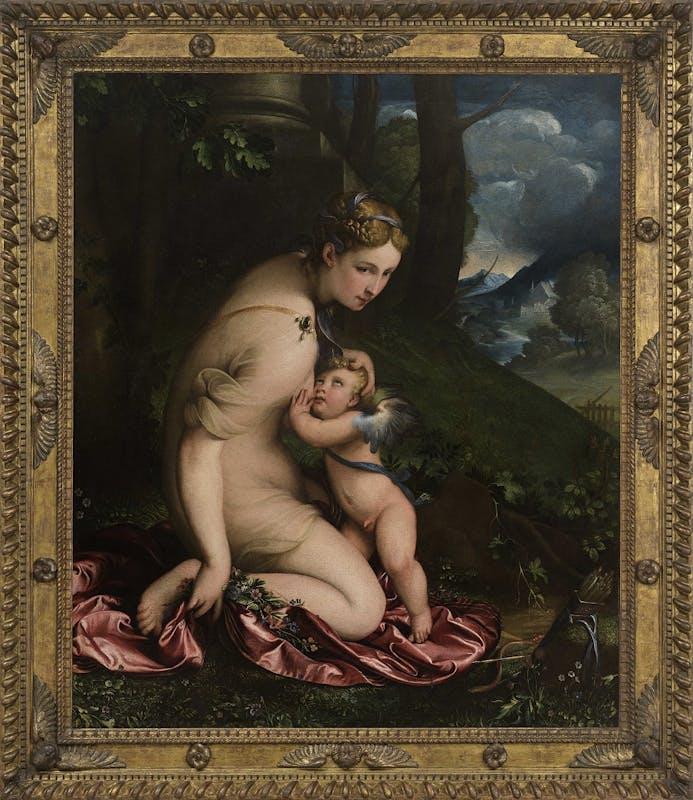 Camillo Boccaccino, Venere che allatta amore, Milano, Pinacoteca di Brera