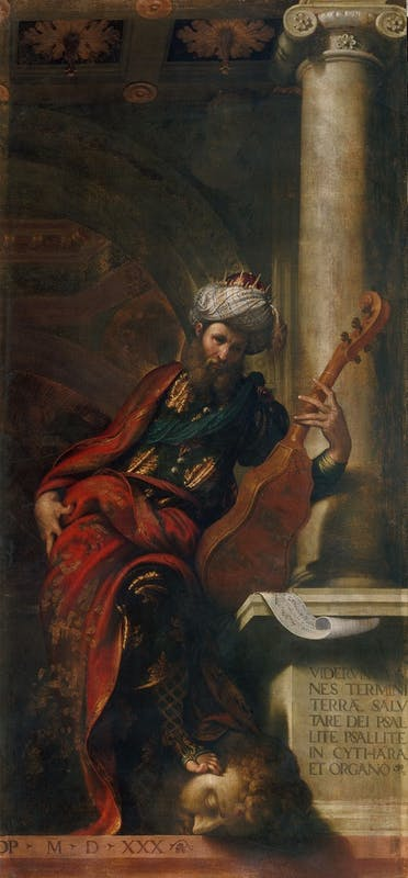 Camillo Boccaccino, Isaia e Davide, Piacenza, Musei di Palazzo Farnese