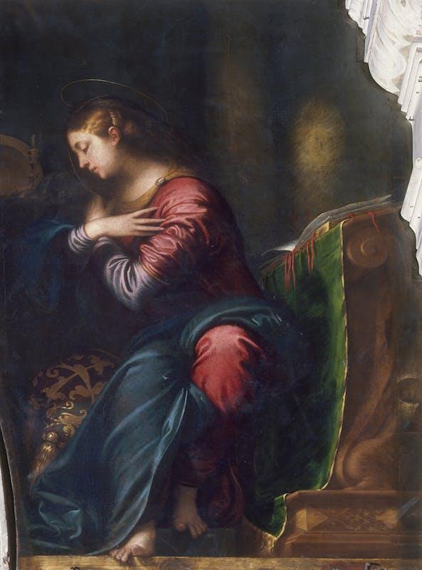 . Camillo Boccaccino, Vergine annunciata, Piacenza, Santa Maria di Campagna
