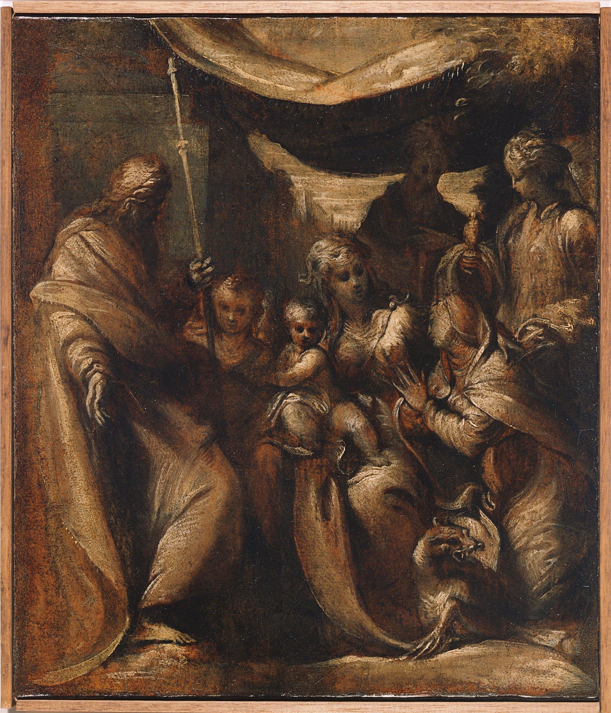 Camillo Boccaccino, bozzetto per la pala di Santa marta, Uffizi, Gabinetto dei disegni e delle stampe