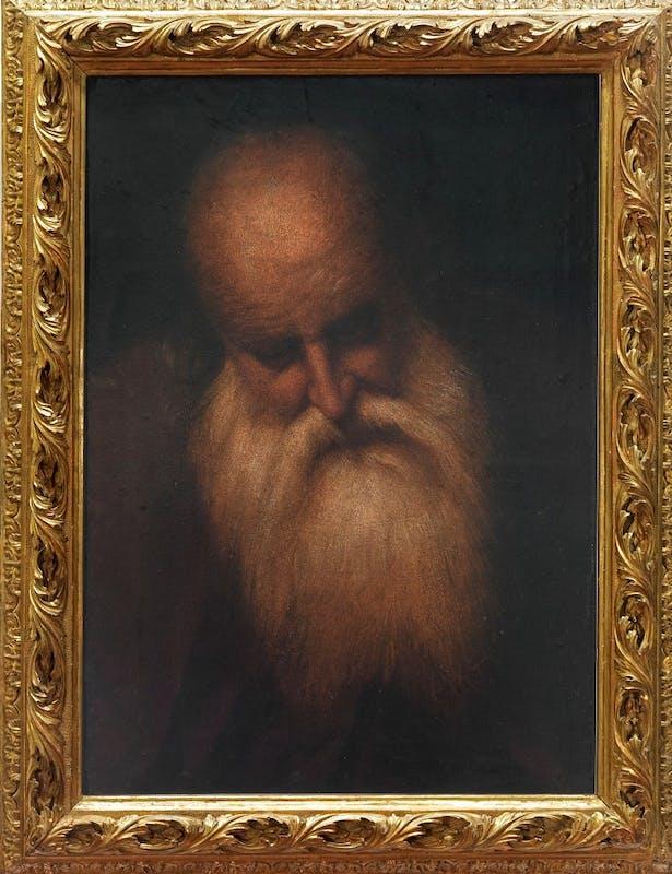 Camillo Boccaccino, testa di vecchio, olio su carta, Uffizi