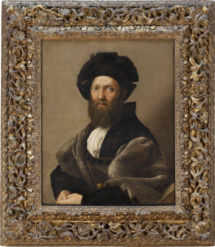 Raffaello Ritratto di Baldassare Castiglione Portrait of Baldassarre Castiglione  1513 olio su tela / oil on canvas Parigi, musée du Louvre, dèpartement des Peintures